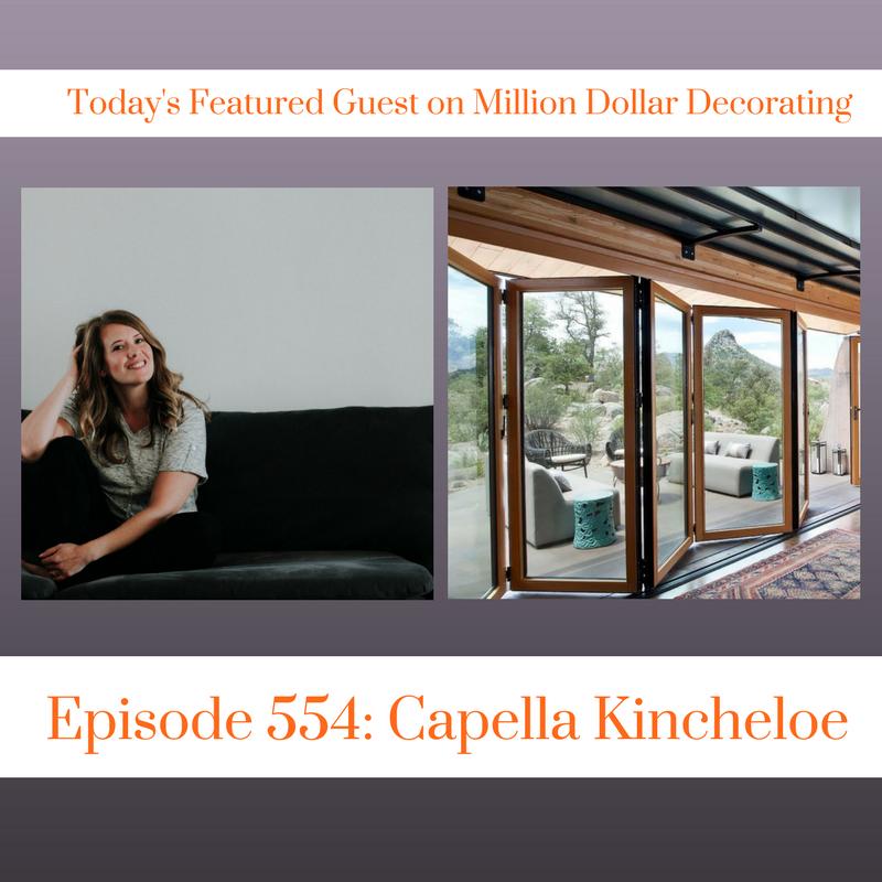 Listen to the interior design world of Capella Kincheloe on Million Dollar Decorating Podcast. Topics covered include business of interior design, pricing interior design, mice, cookbooks, and how I'd spend $1000. #interiordesignbusines #thegoldenblueprint #cktradesecrets