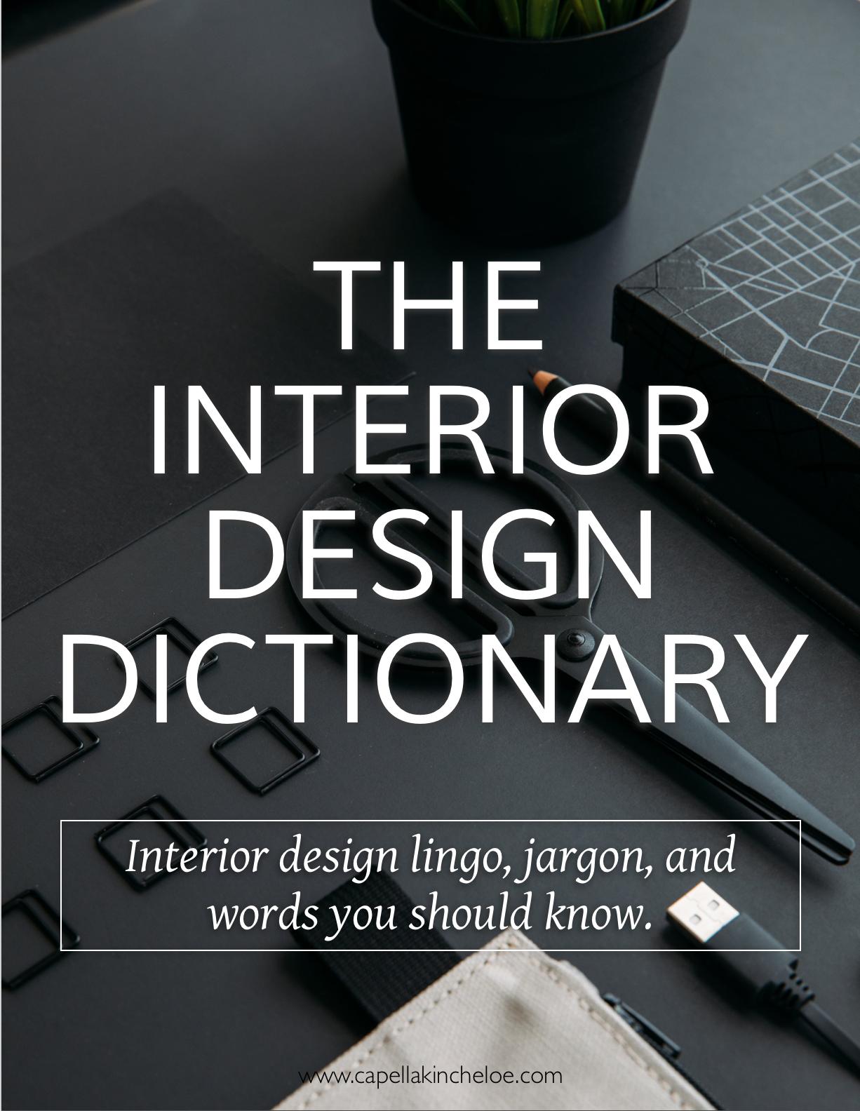 Basics Design Dictionary Capella Kincheloe