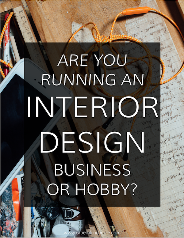 Are you taking ownership over your interior design business? Or are you running your interior design business as a hobby? #interiordesignbusiness #notahobby #cktradesecrets