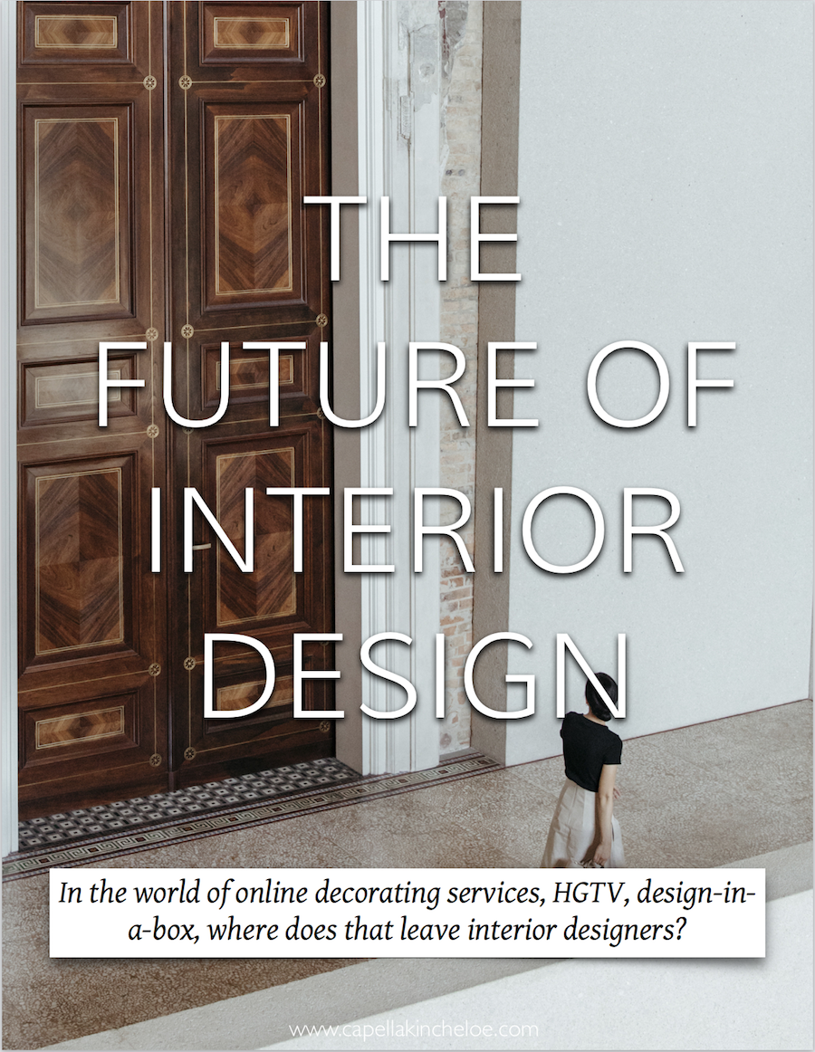 What does the future hold for Interior Designers? There is so much competition, uncertainty, and expectation - what do you think?