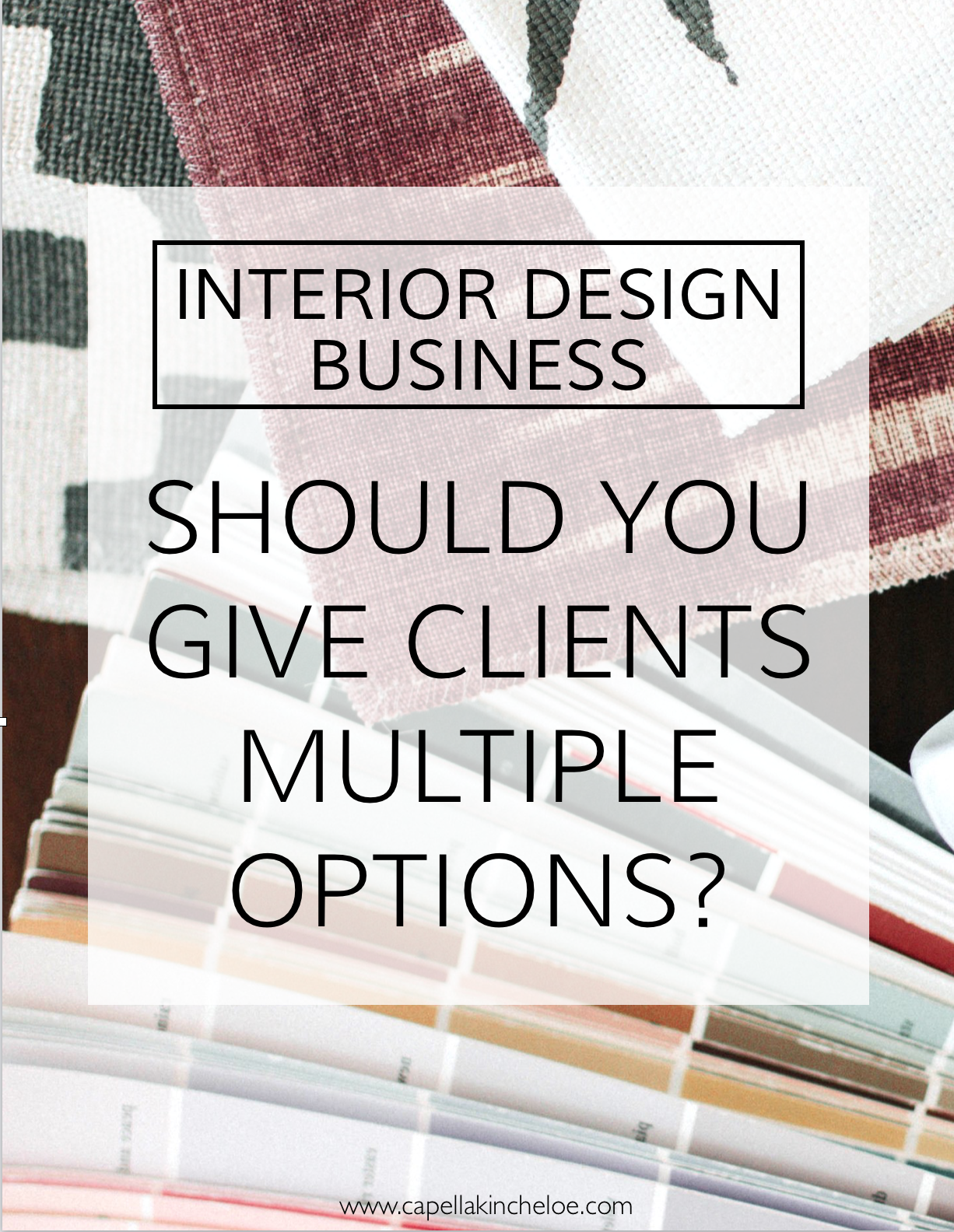 Interior Designers! Is it good to give your clients multiple options in design presentations? #interiordesignbusiness #designpresentations #cktradesecrets #collaborationovercompetition #interiordesignclients