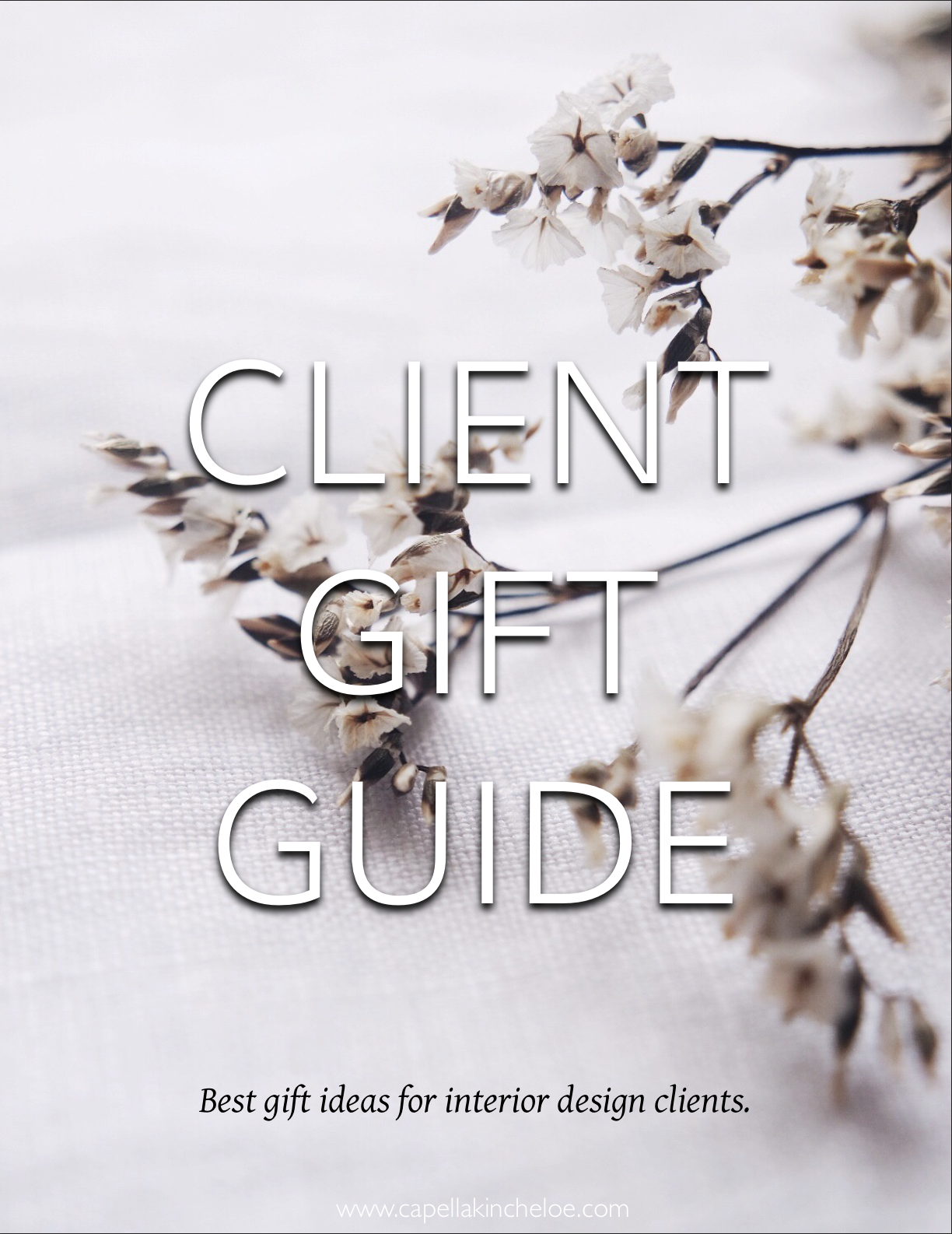 Not sure what you should give to clients as gifts? #clientgifts #cktradesecrets #interiordesignbusiness #giftguide #interiordesignclients