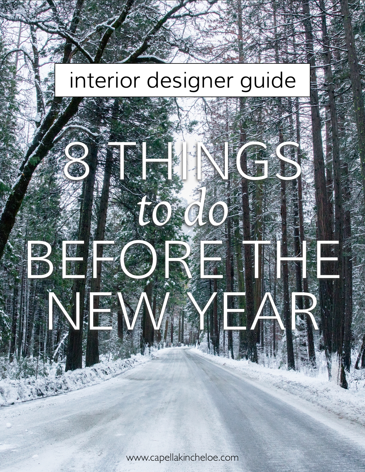 8 Things to do before the New Year when you're running an interior design business. #cktradesecrets #interiordesignbusiness #newyear