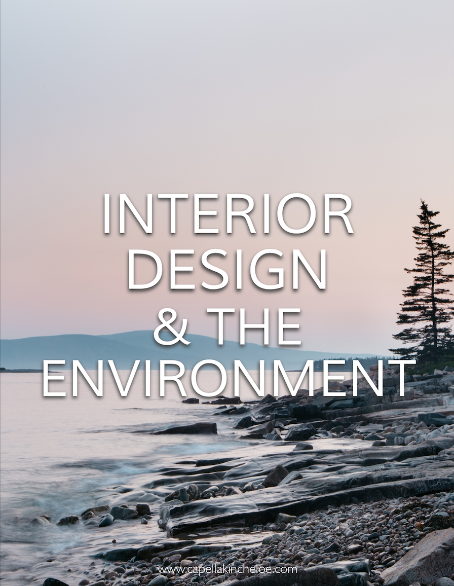 Do interior designers have an obligation to the environment? Does our work contribute to global warming? #interiordesignbusiness #cktradesecrets