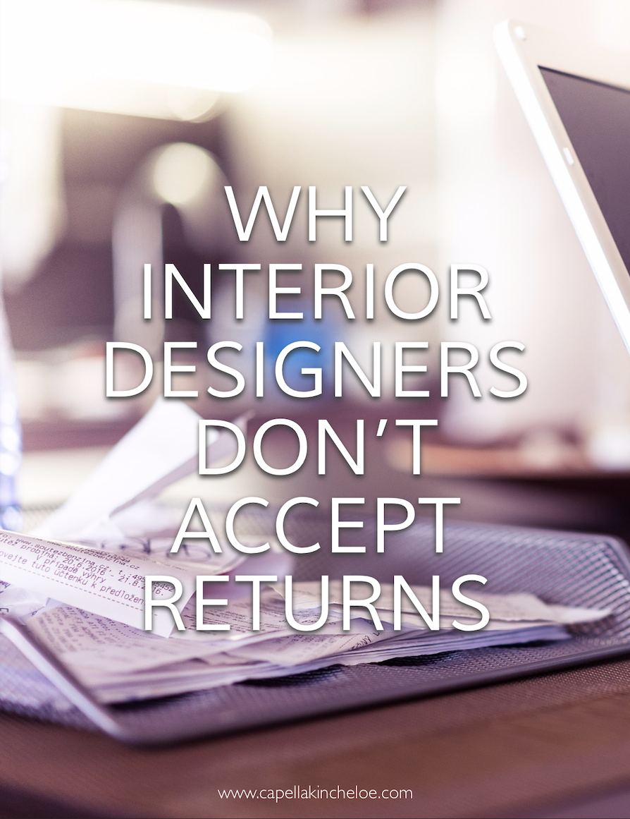 Ever wonder why you can't return something? #interiordesignbusiness #cktradesecrets #Returns