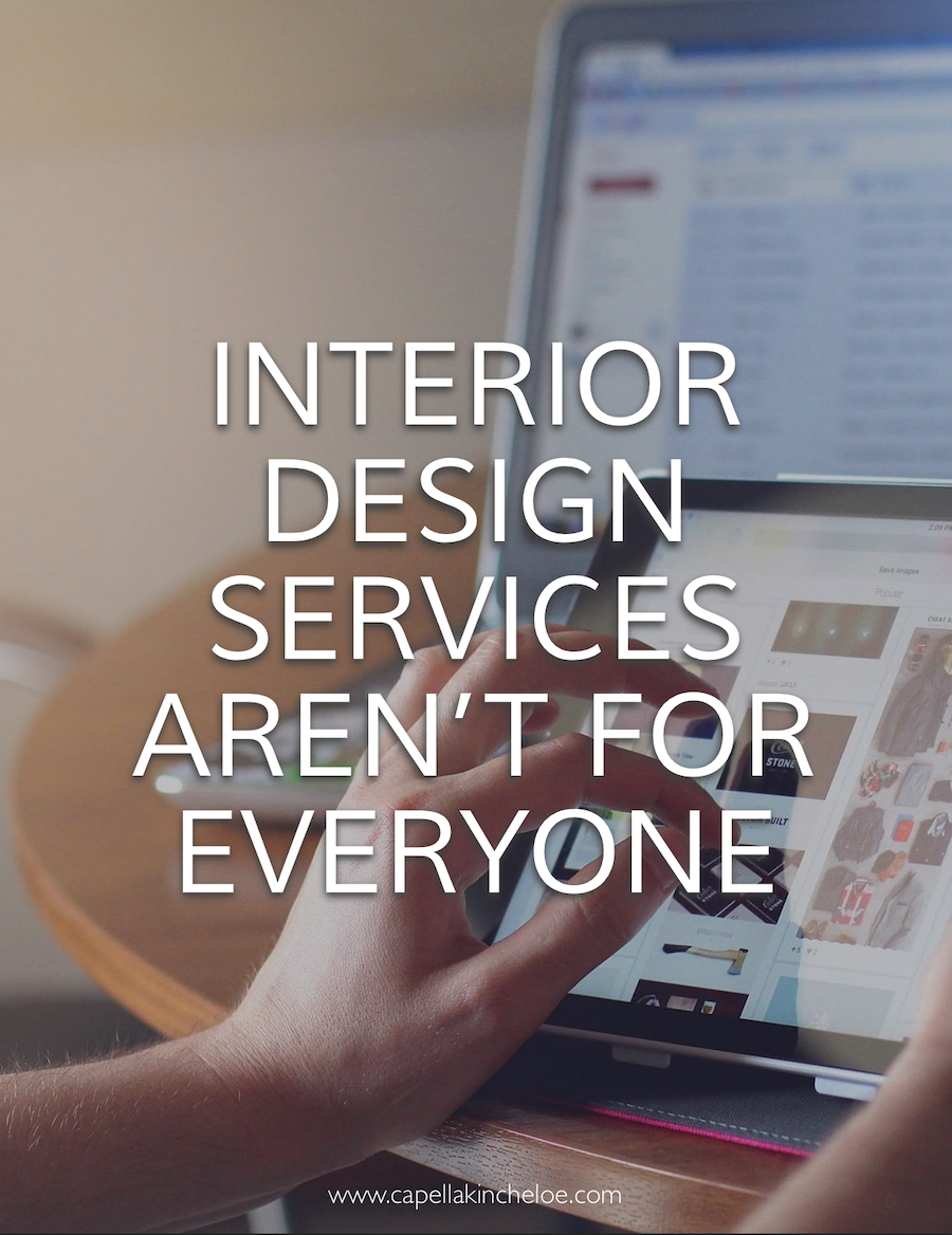 Think interior design services should be accessible to everyone? Maybe not. #interiordesignbusiness #cktradesecrets #interiordesignclients