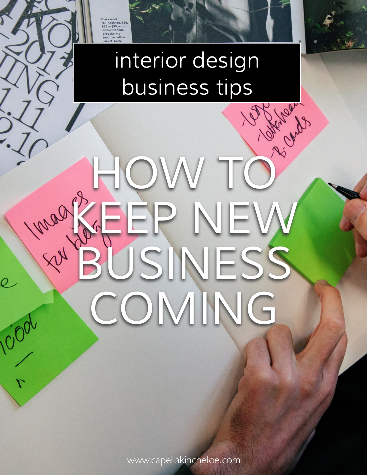 Feel like you are always going through periods of busy and slow periods in your interior design business? There are some strategies that you can implement easily to keep new business coming in regularly. #interiordesignbusiness #interiordecorator #capellakincheloe #cktradesecrets #interiordesignceo