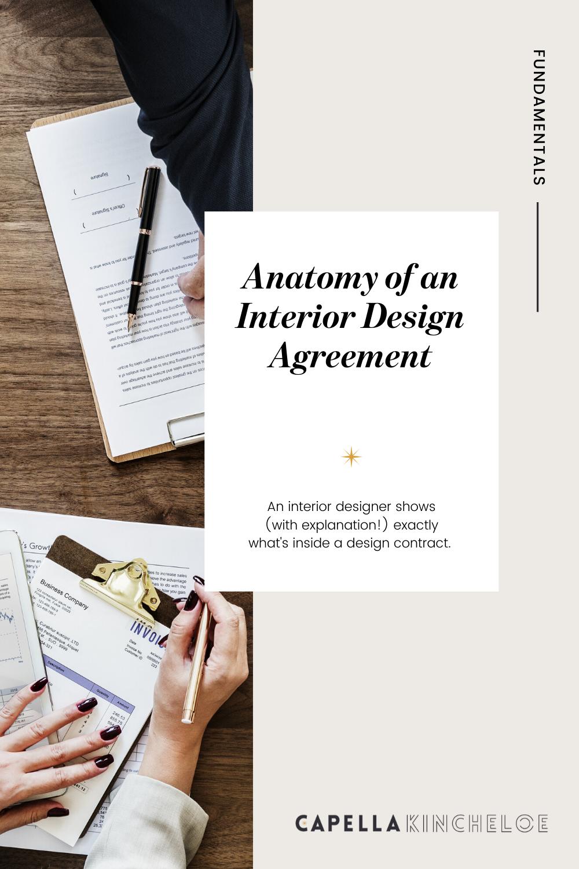 interior design contract agreement template invoice