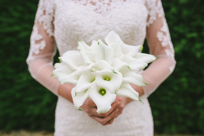 Elegant lily bouquet by Derbyshire florist Tineke