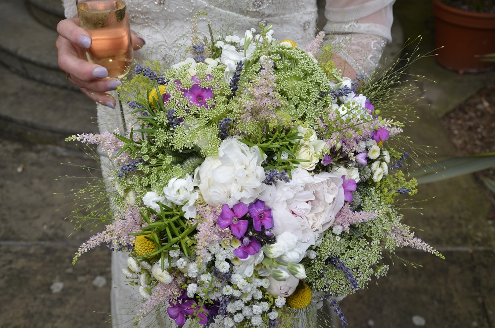 An intimate wedding at Fichers Hall Baslow with Tineke floral design flowers