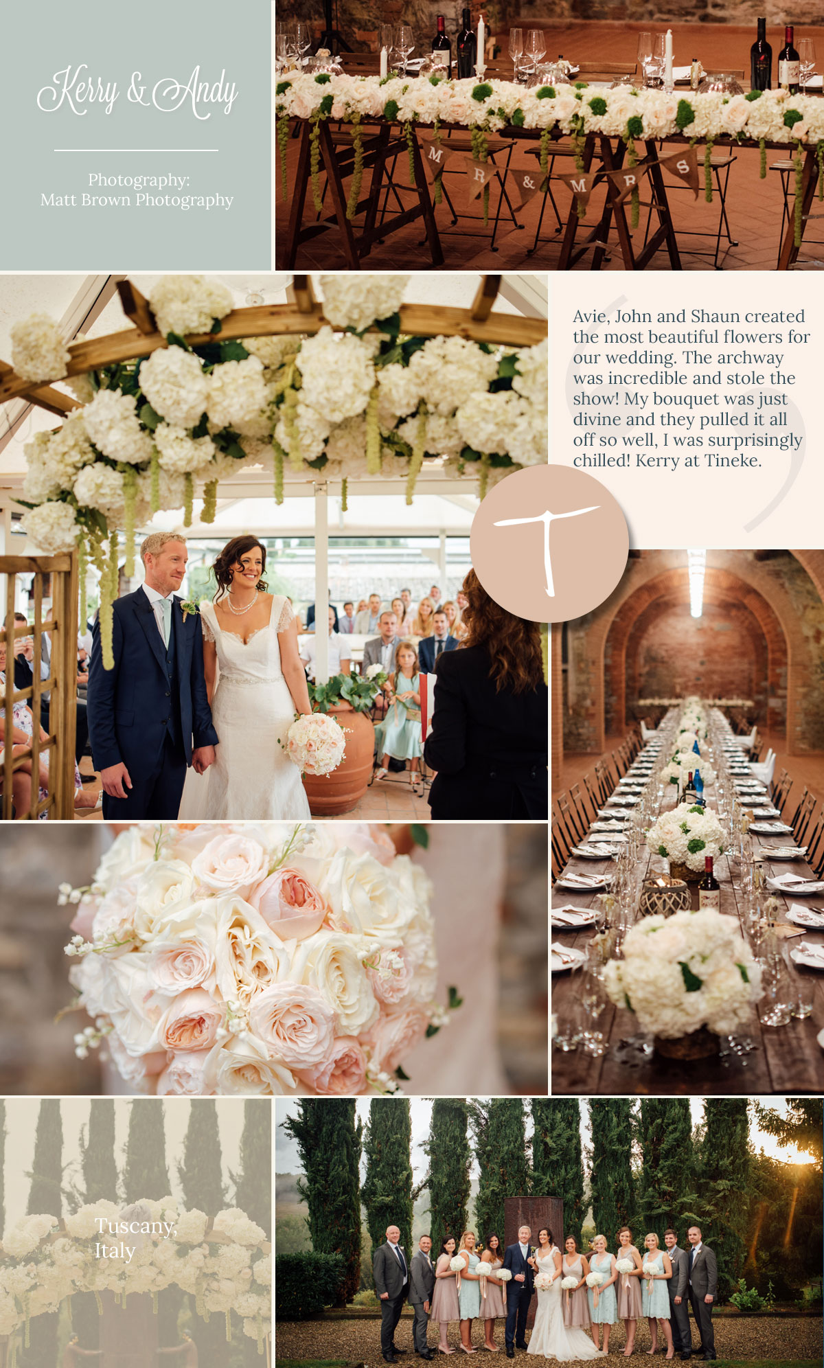 A tuscany wedding by Tineke floral design with beautiful hydrangeas