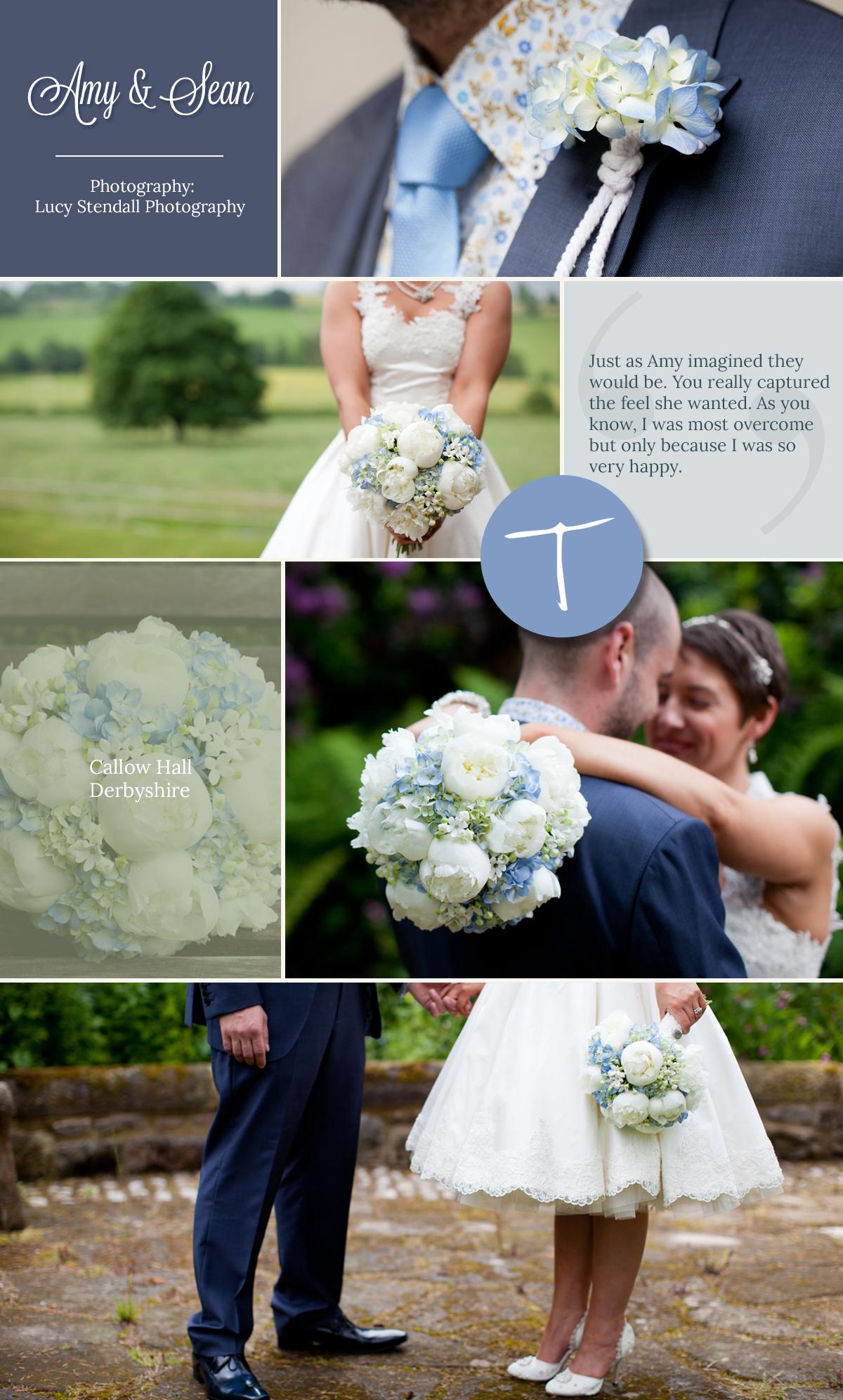 Callow Hall Wedding with tineke hydrangea and peony floral displays