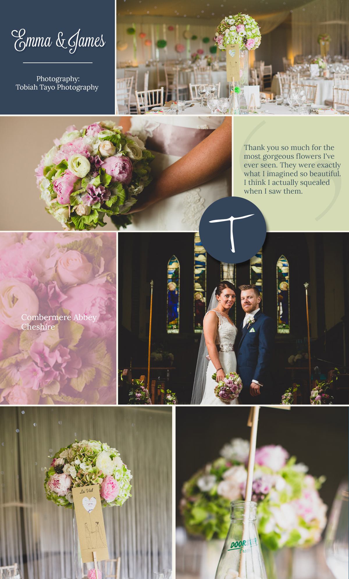 Combermere Abbey wedding with vibrant floral styling and bridal bouquet by Tineke Floral design in Derbyshire.