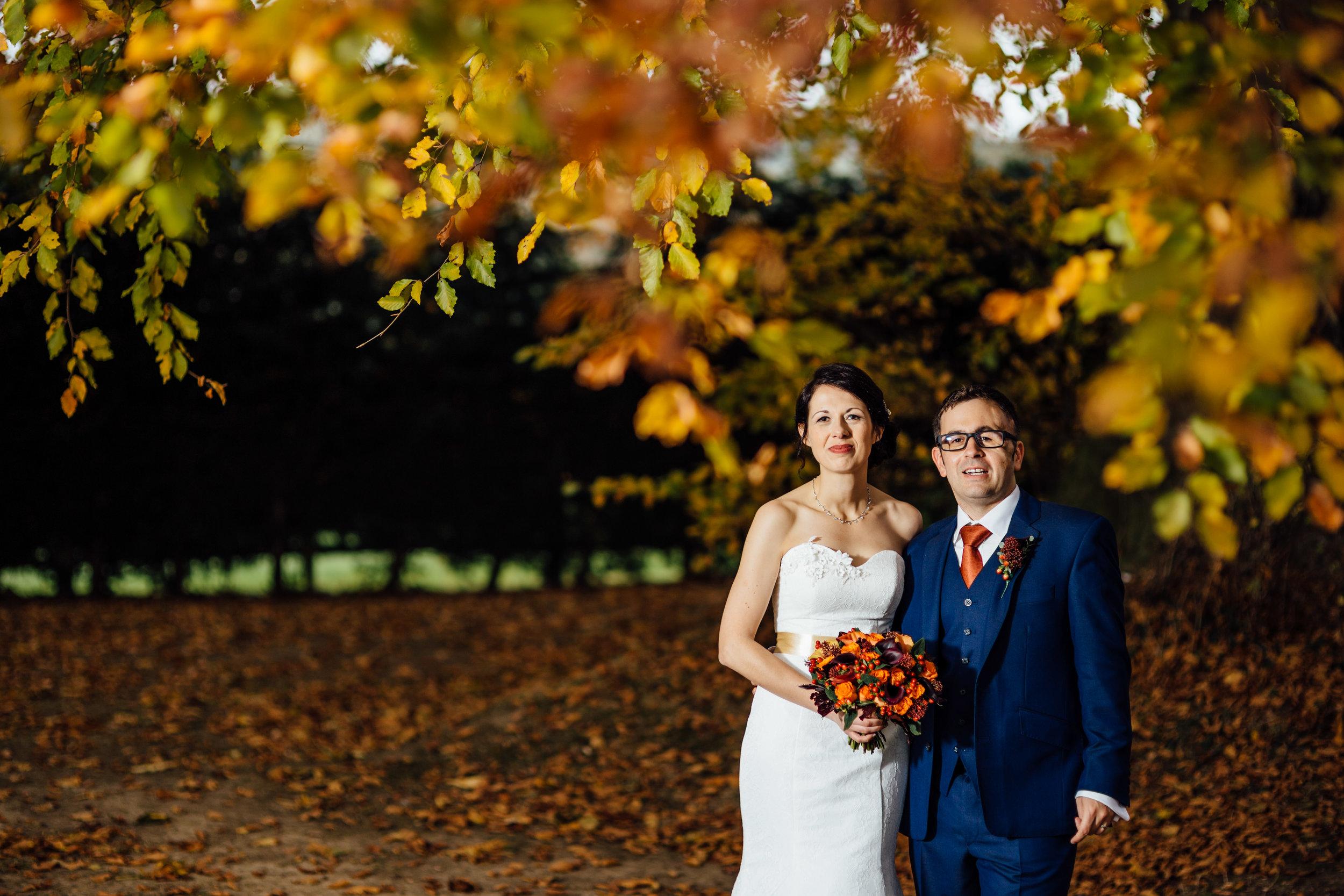 Autumn bridal bouquet Autumnal wedding flowers by Tineke Floral Designs in Derbyshire.