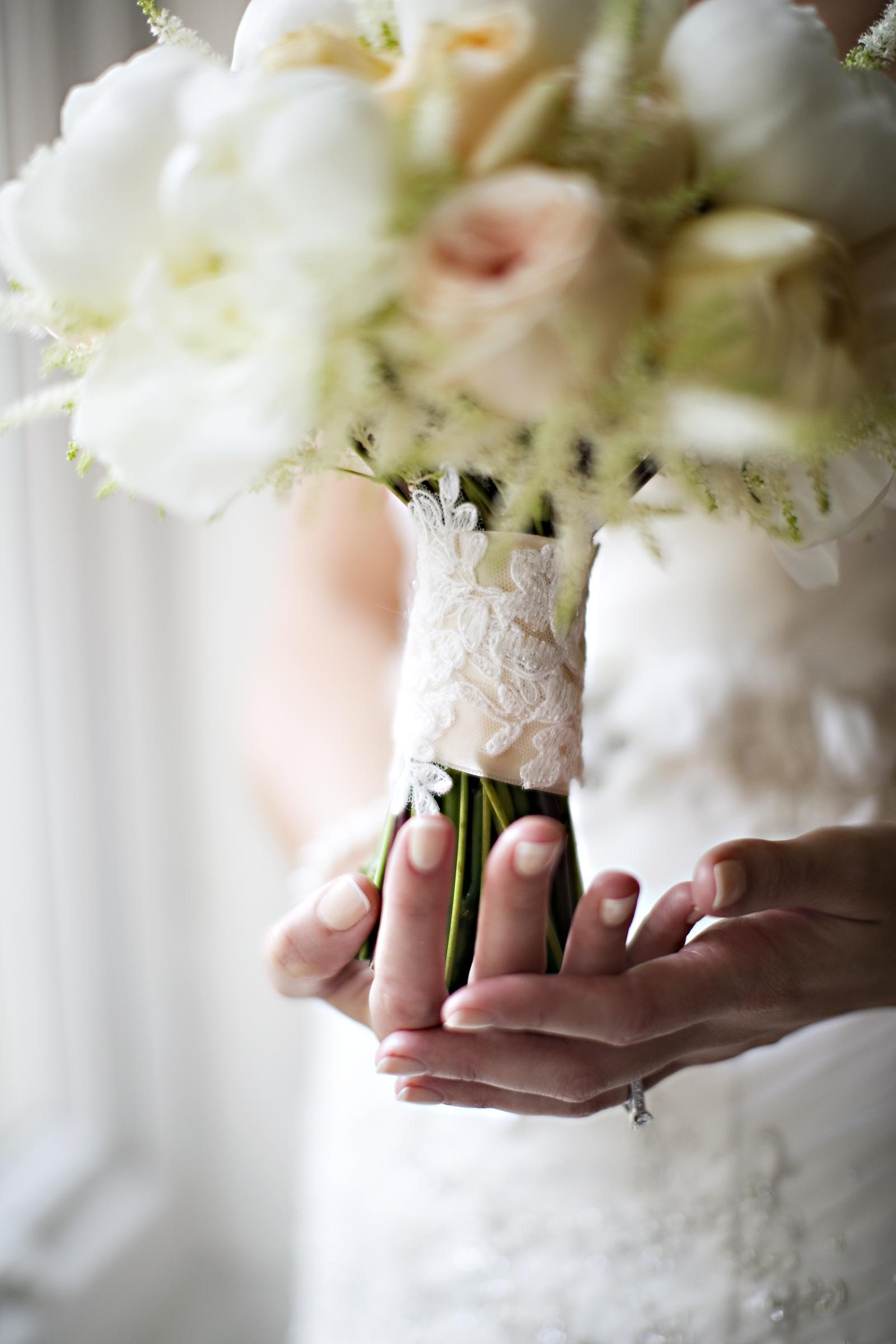 Peony wedding bouquet from Derbyshire florist, Tineke.