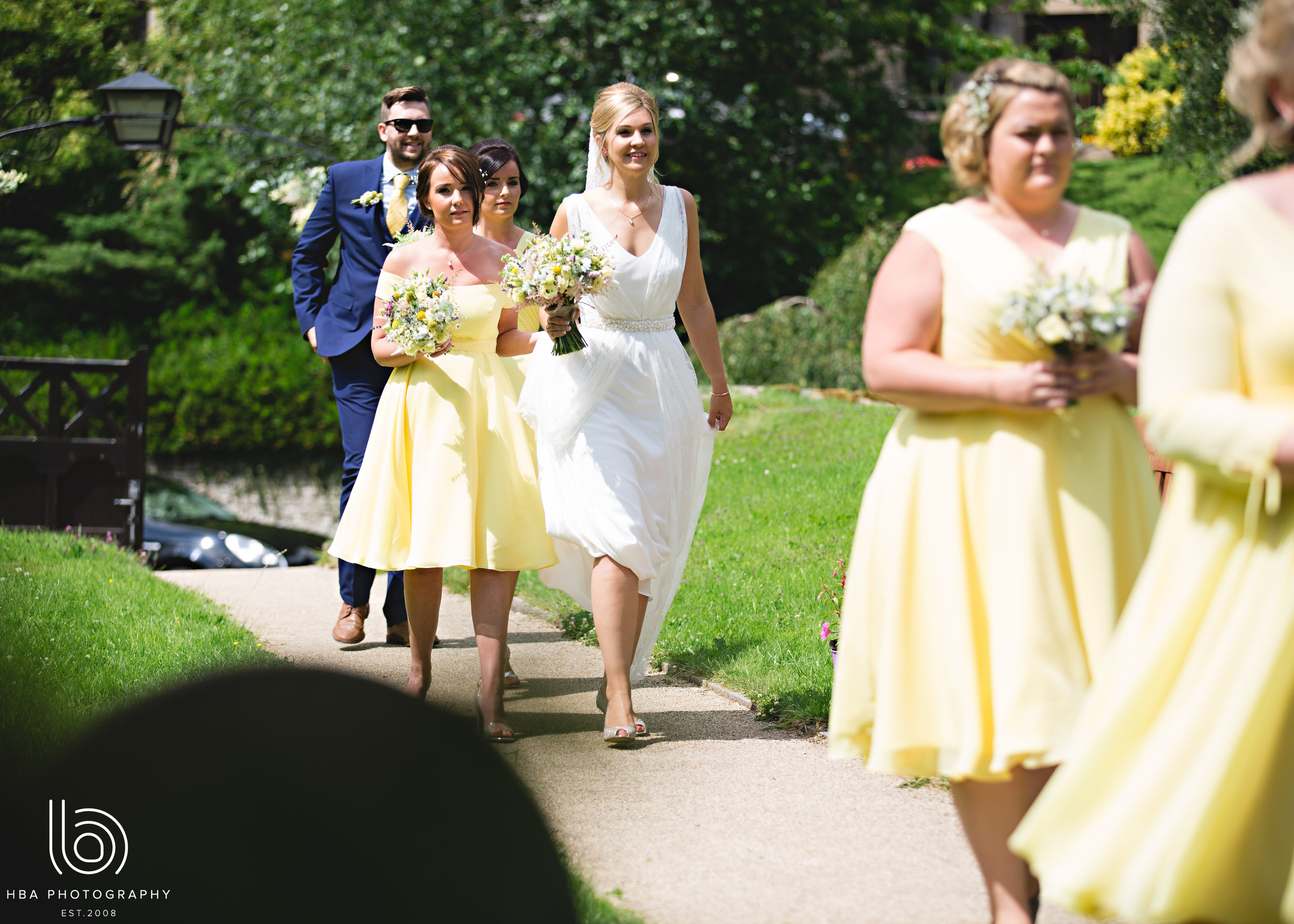 Bridal party flowers by Tineke