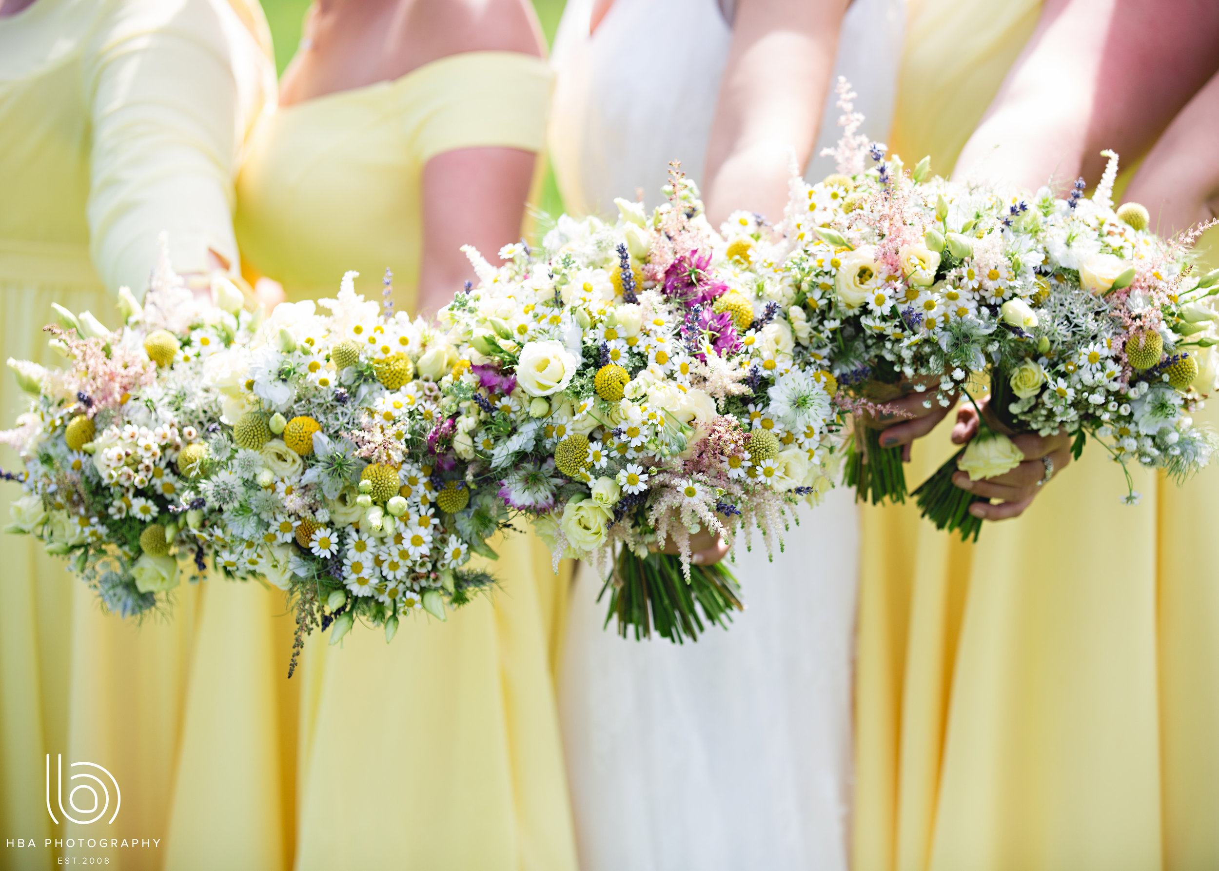 Beautiful bridal party bouquets by Tineke Floral Designs