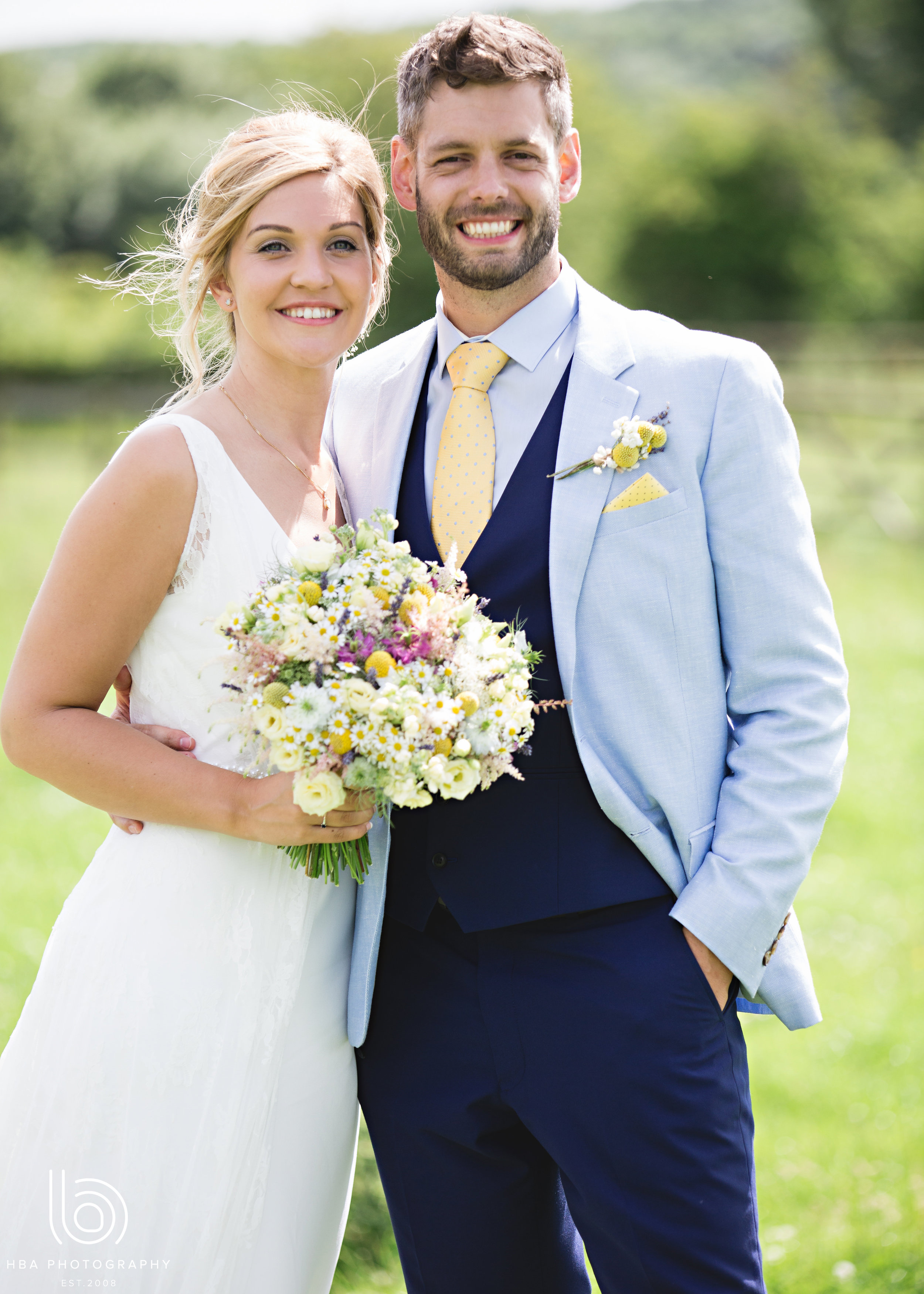 The gorgeous couple and their Tineke blooms!