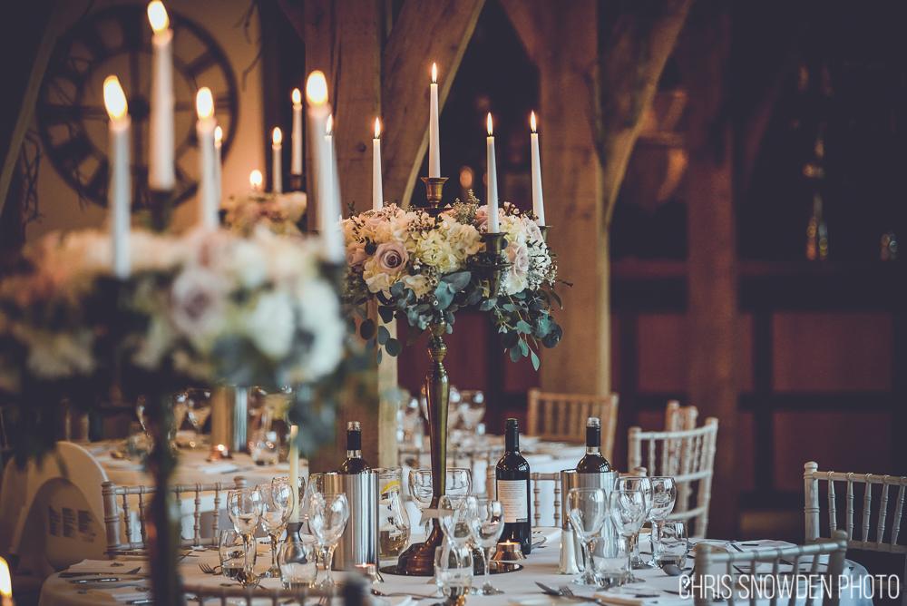 Swancar Farm Winter Wedding with floral candelabras