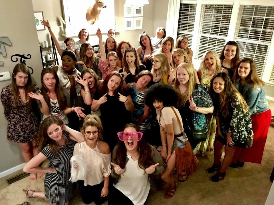 Music Biz Besties meetup at Katherine's house with guests April Kry and Katie Kaupp