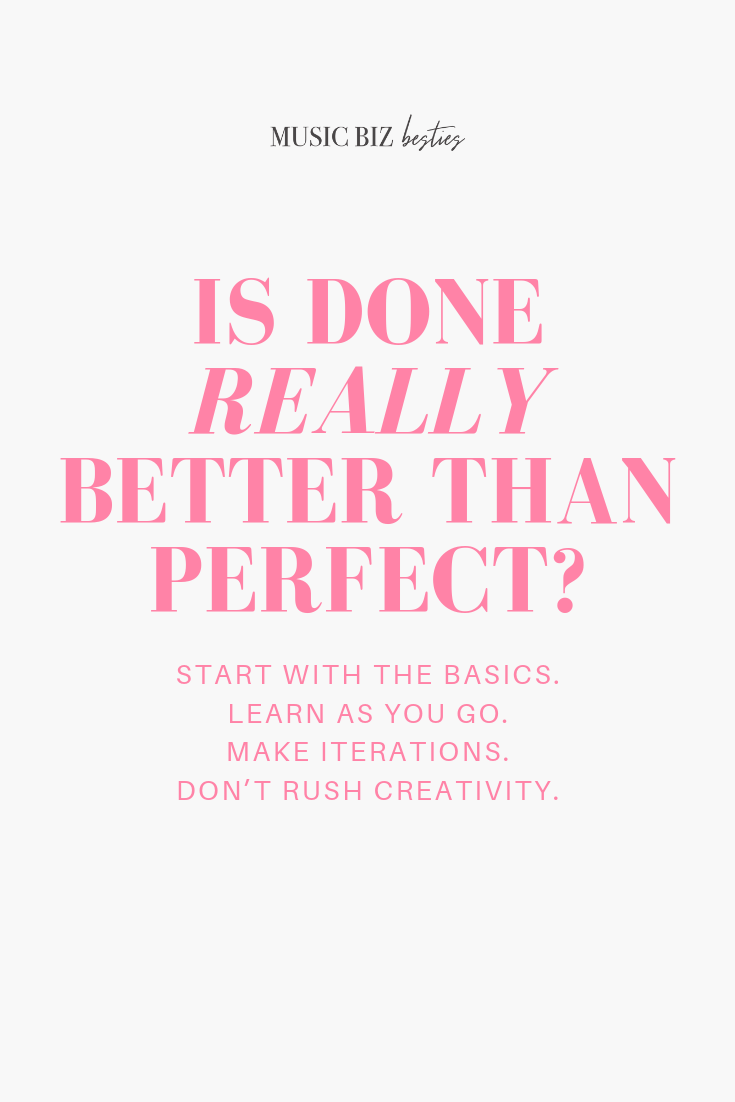 Is done really better than perfect?