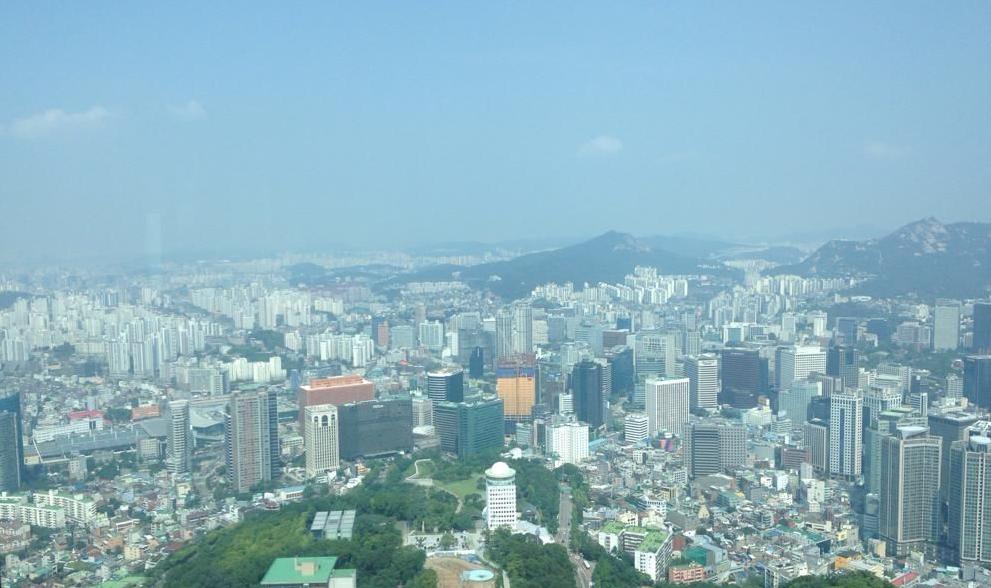 Näkymä YTN Seoul Towerista