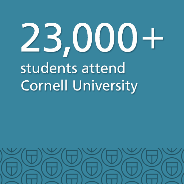 21,000+ students attend Cornell University