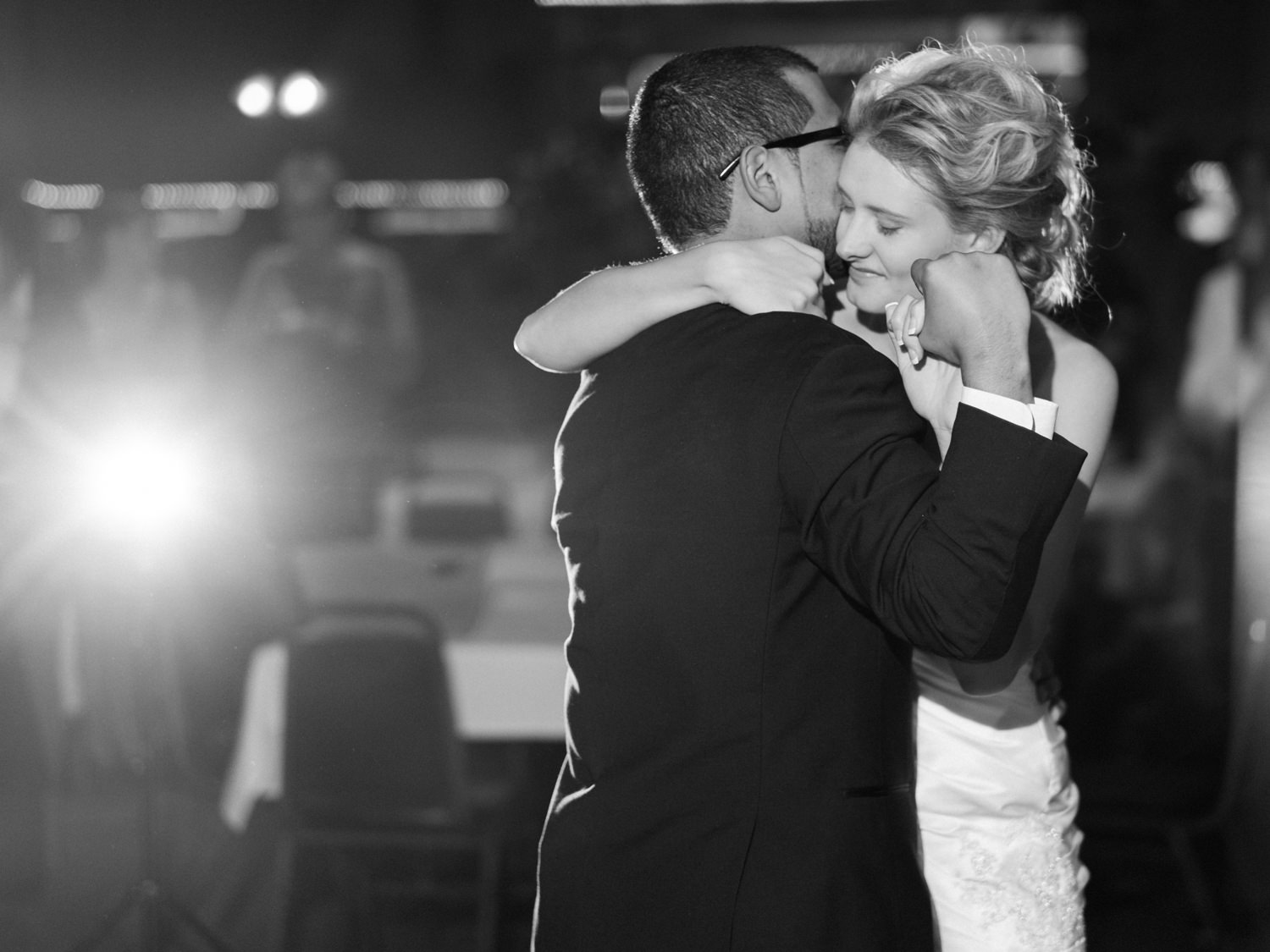 Bride and groom's first dance at the Pettibone Resort in La Cros