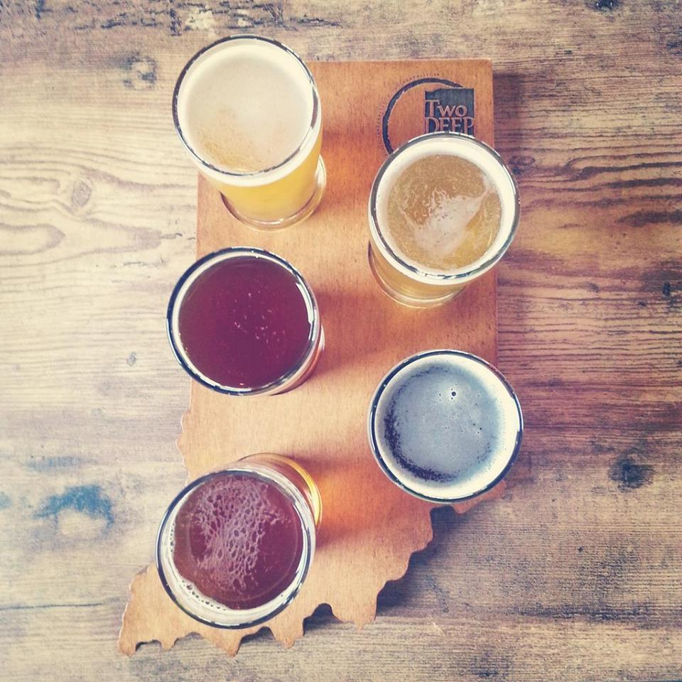 Drink your way down Indiana with a tasting flight