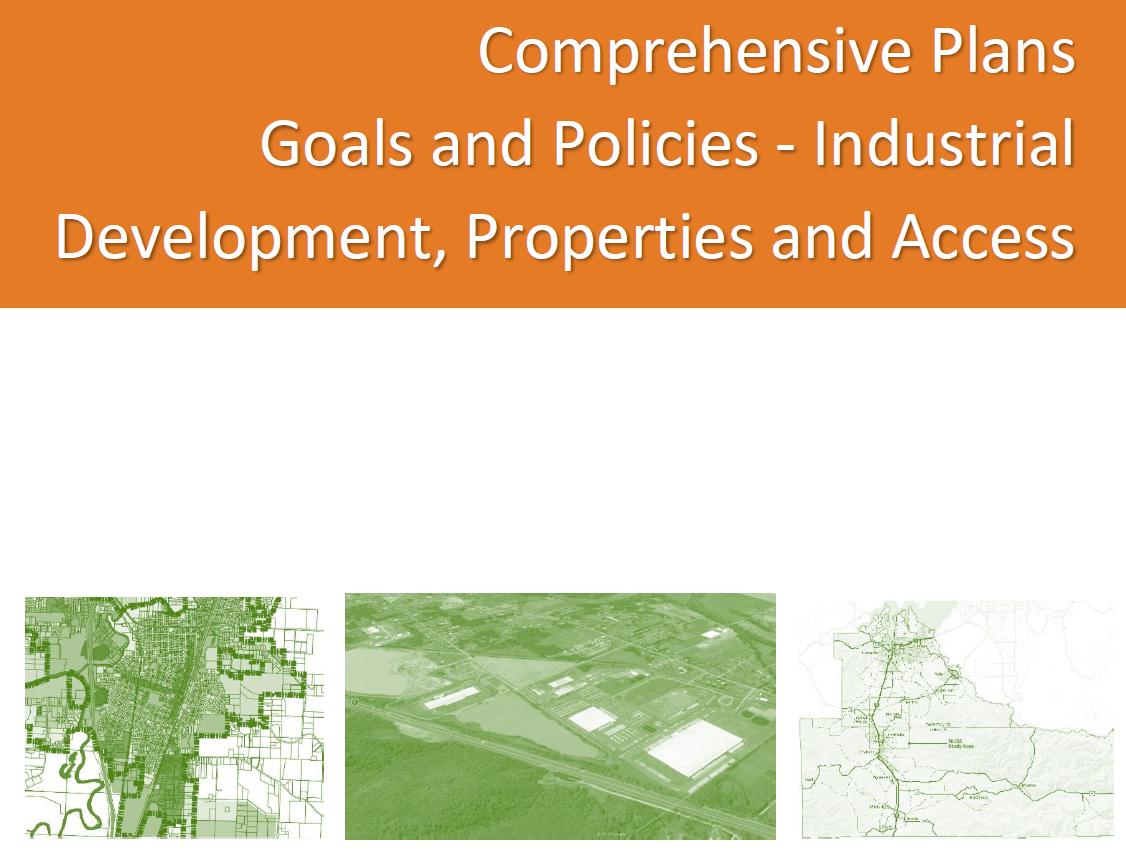 Comprehensive Plan Policies