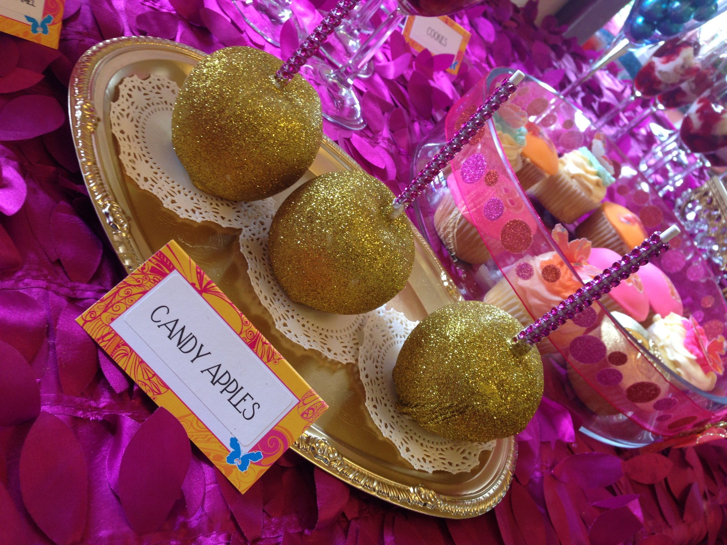 Glitter Candy Apples
