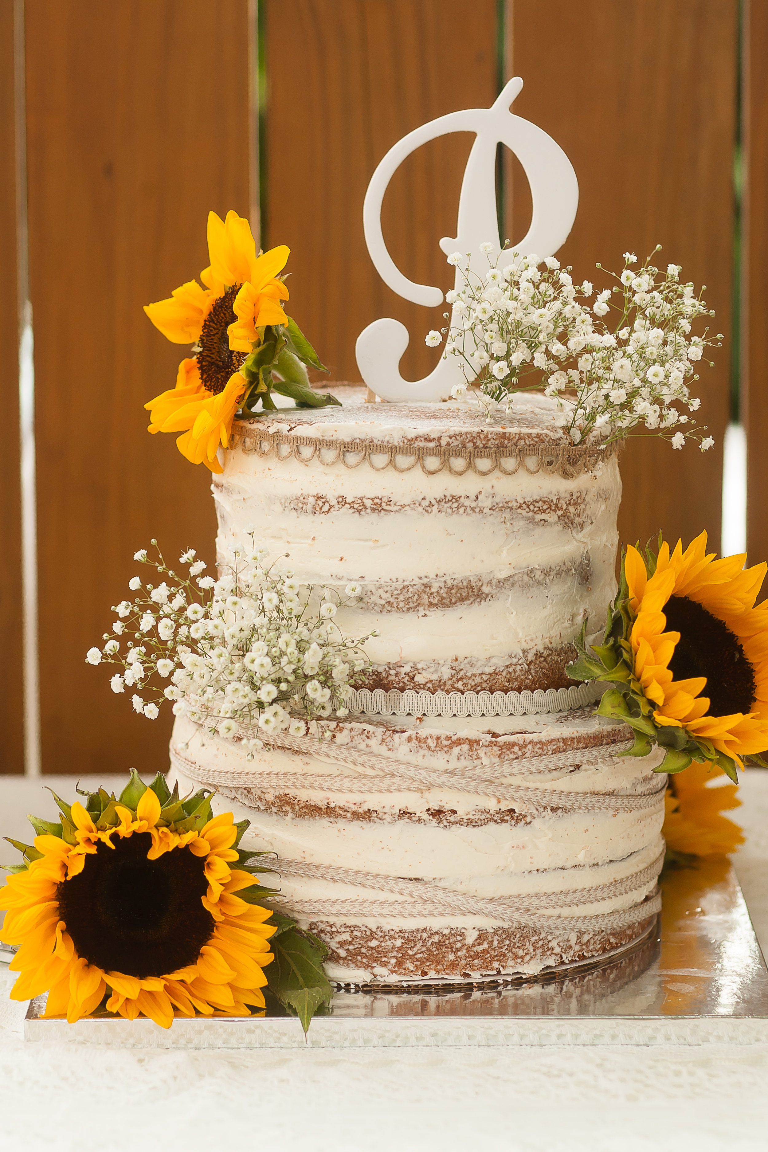 Country Chic Naked Cake