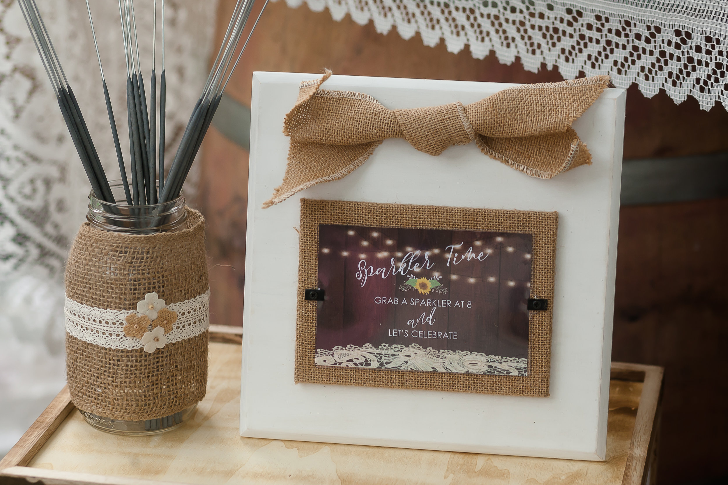 Country Chic Sparklers Sign