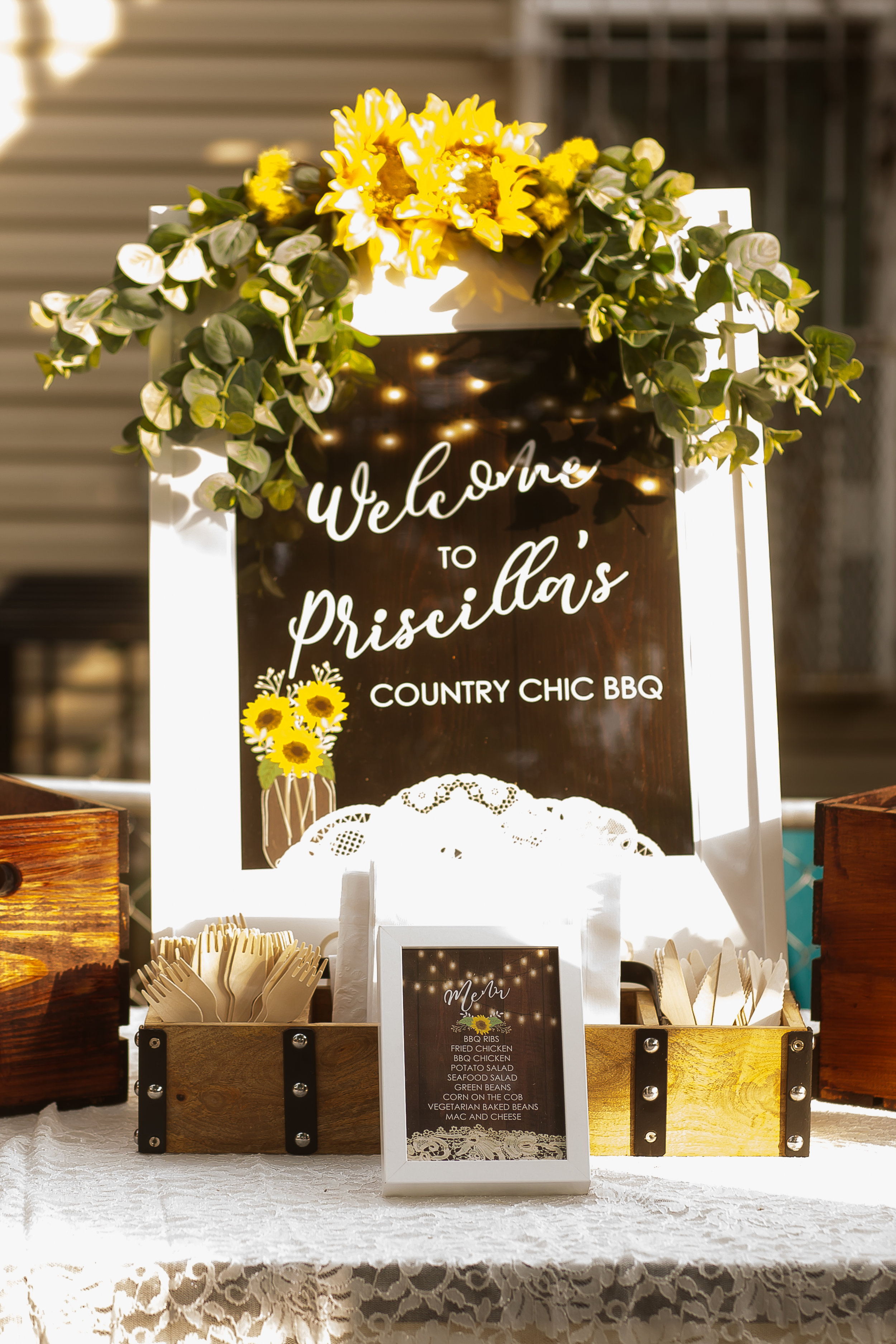 Country Chic Welcome Sign
