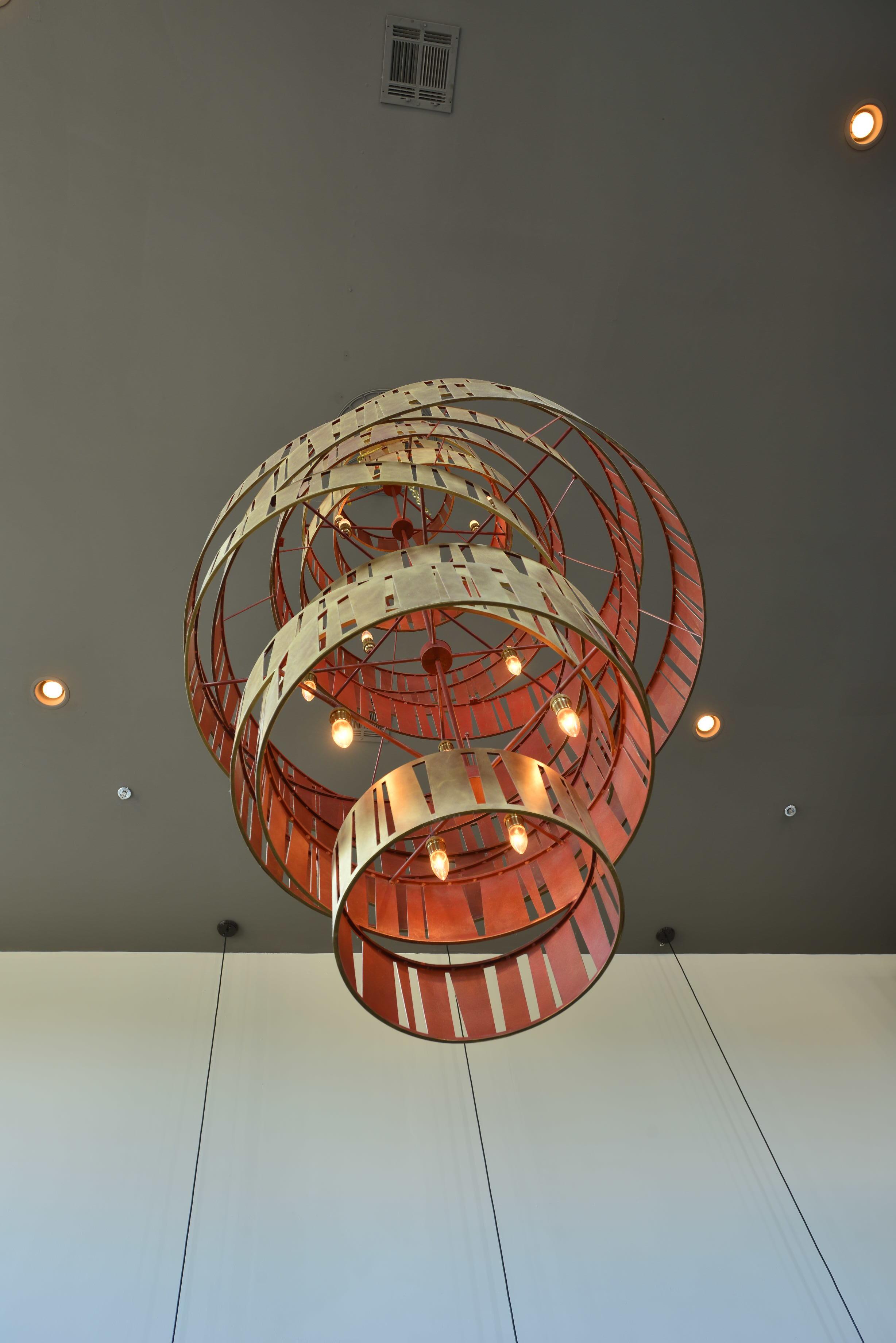 Chandelier Detail at Cava Restaurant
