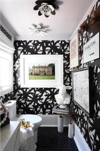 Fantasy Flower Sconce in Laura Burleson's Bathroom Design