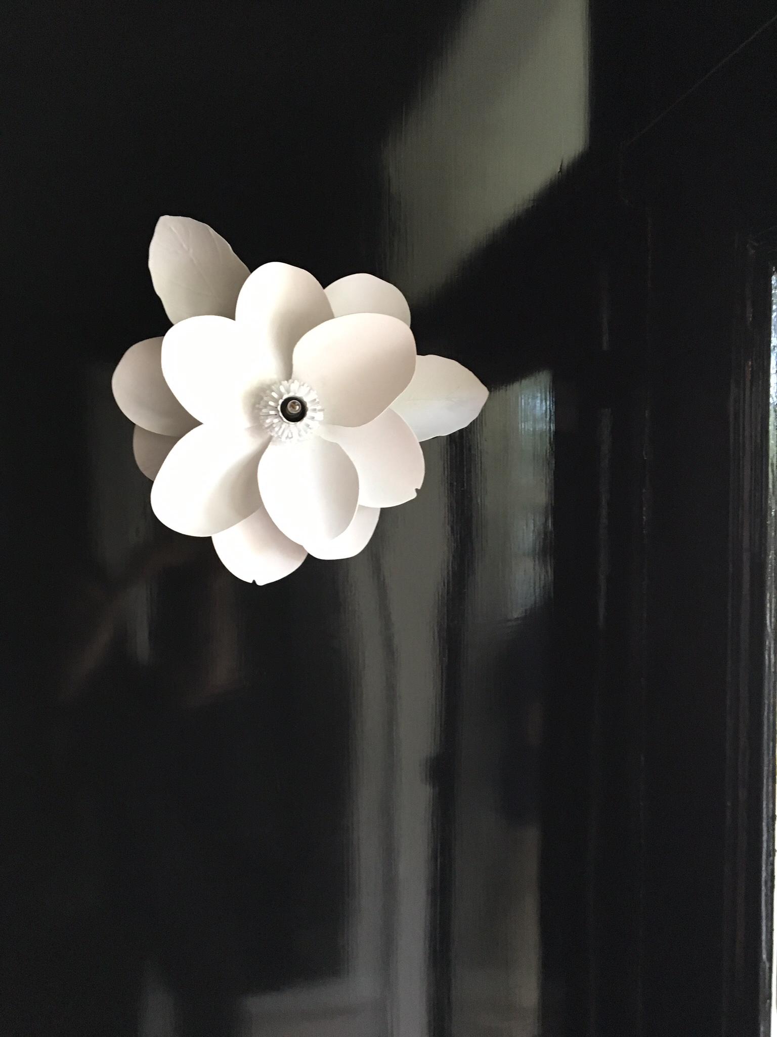 Flower Sconce in Shaun Smith's Foyer Design