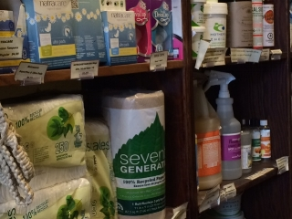 From napkins and paper towels to cleaners, laundry soap, and women's hygiene products- we've got it all!