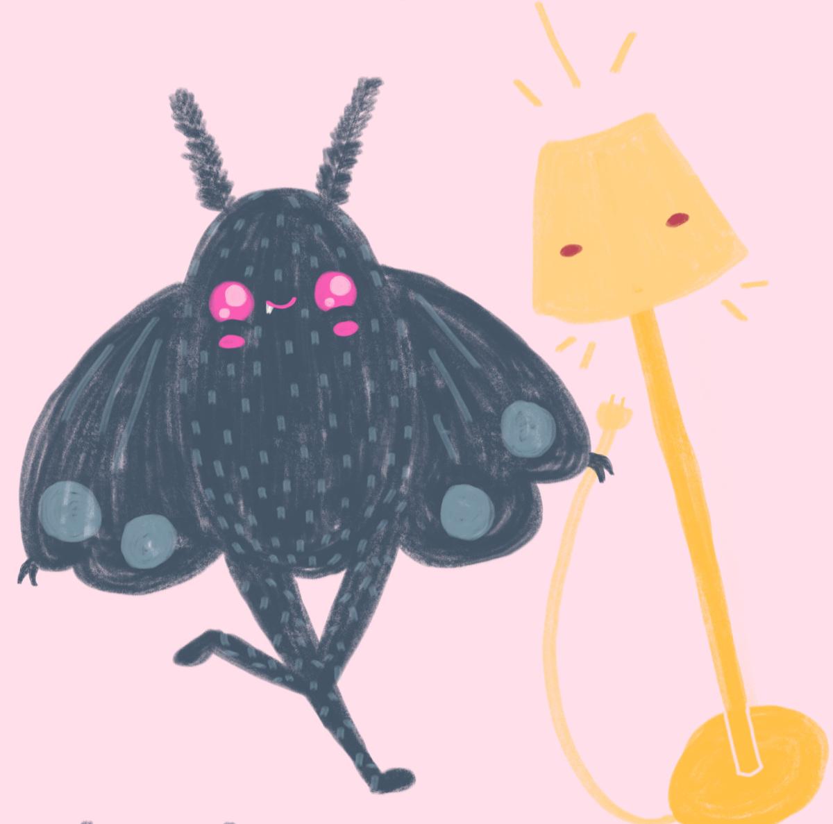 Mothman Loves Lamp