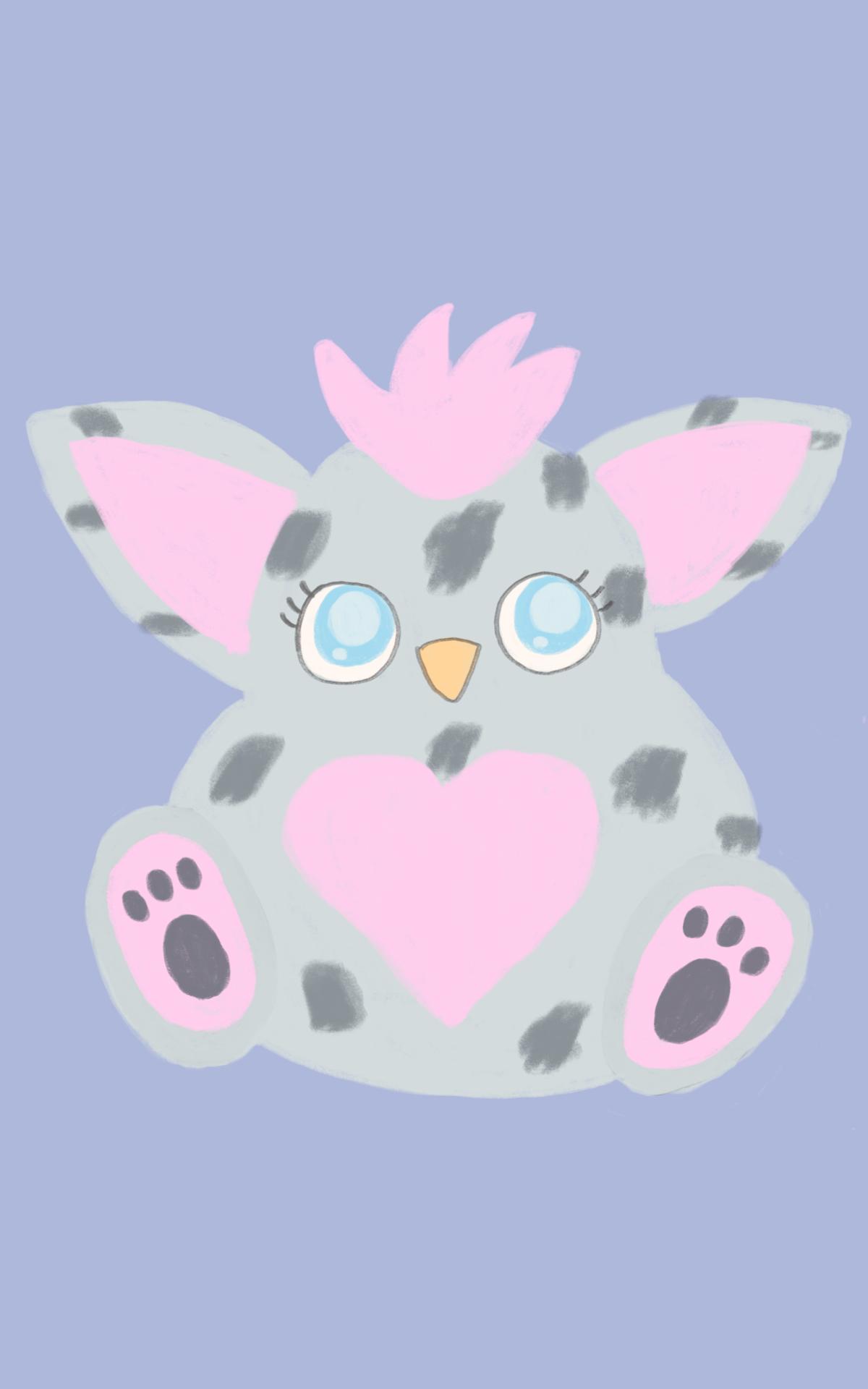 Leopard Furby Print