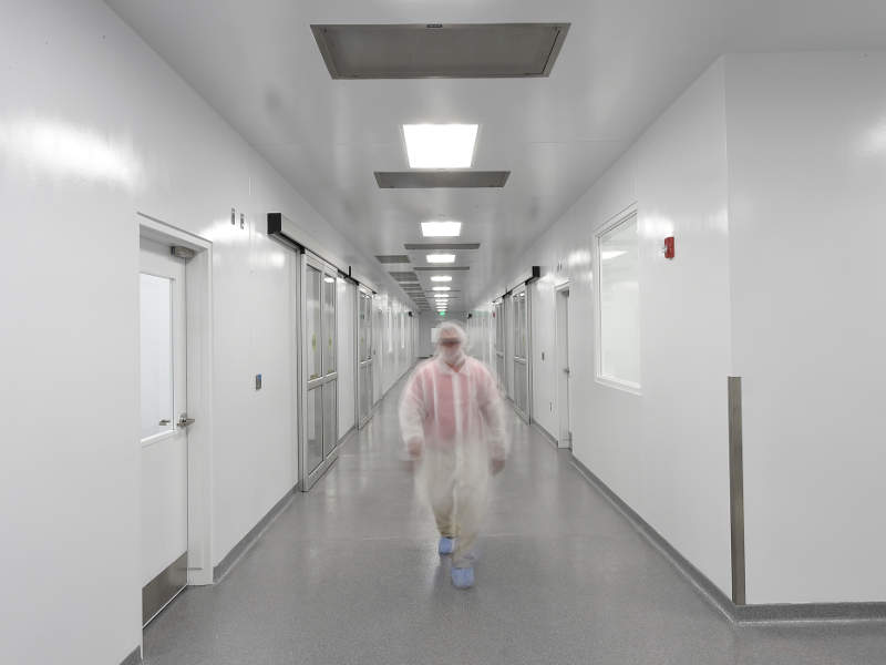 The interior corridor of Mayne Pharma's OSD manufacturing facility in Greenville, NC. Image courtesy of Mayne Pharma.