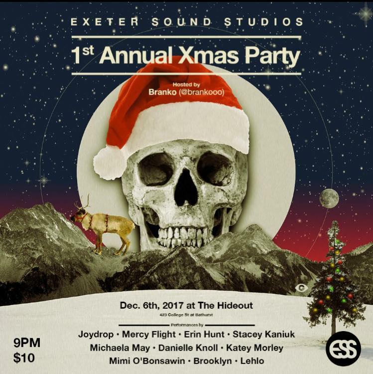 Come and see Joydrop - Mercy Flight - Erin Hunt - Stacey Kaniuk - Michaela May - Danielle Knoll - Katey Morley - Mimi O'Bonsawin - Brooklyn and Lehlo live. Hosted by Branko (Branko Scekic) this will be a wild one and there will be surprises !!! Collecting canned goods for The Parkdale Community Foodbank.
