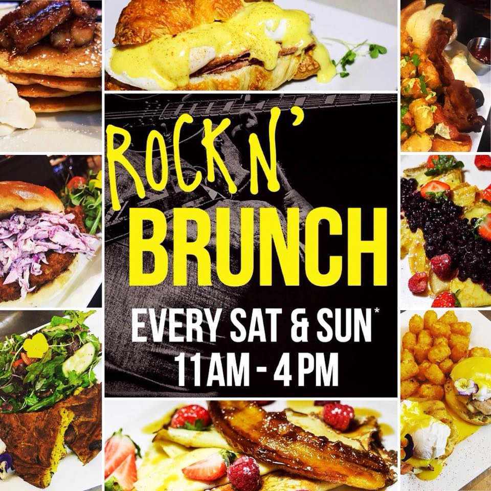 Doors are open!! Swing by for Rock N' Brunch!  Hangry Catering Co  will be serving up delicious brunch till 4pm. Don't forget to try our Maple Bacon Caesars!!!