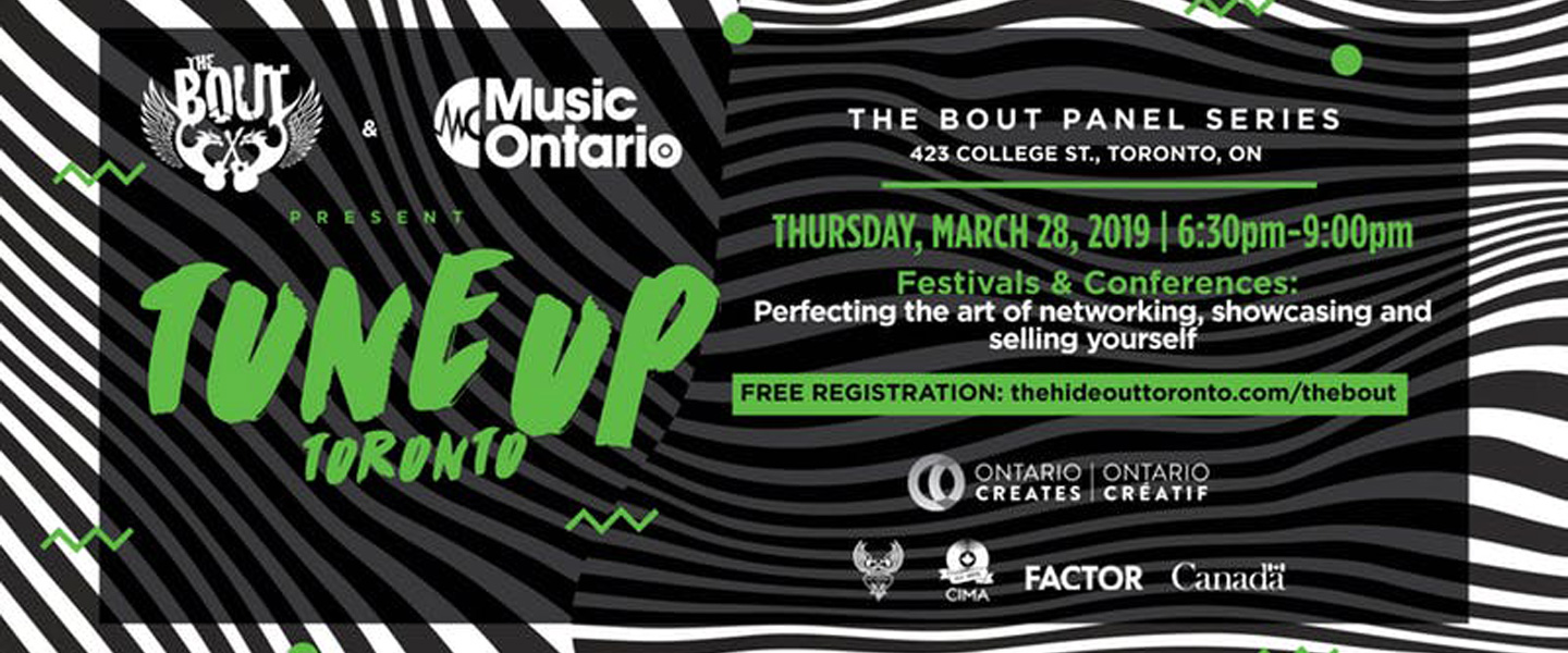 The Bout, in partnership with Music Ontario & The Hideout Toronto present a series of panels addressing key topics for Toronto's emerging musicians. These panels are open to all and are all ages events. The Hideout Toronto will provide some complimentary light snacks and soft drinks. A cash bar will be available for alcohol. Check out the subject matter on each of the four panels and grab your ticket complimentary ticket for one or all of the events.