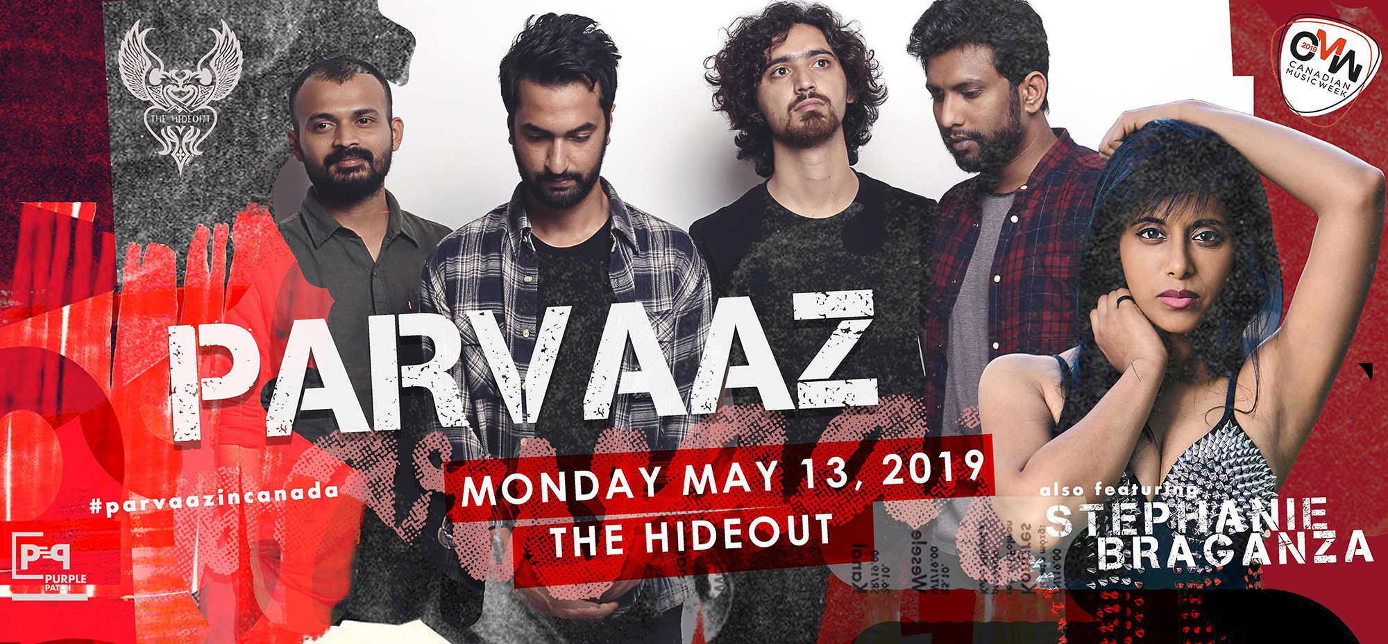 """Join us for a double bill featuring Stephanie Braganza and Parvaaz's at The Hideout, Toronto.  Parvaaz, """"India's most exciting band right now..."""" according to RollingStone magazine, will be featured at this event."""