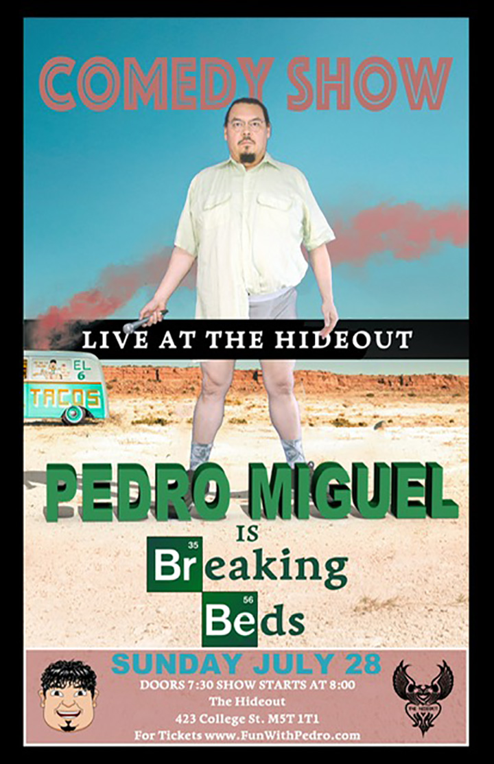Pedro Miguel Arce headlines a night of standup comedy.  Pedro Miguel Arce will be headlining a night of comedy, along with some great comics. Join us for Pedro's first time headlining a show.