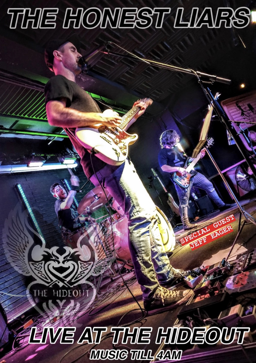 Join us tonight for some awesome live music from  The Honest Liars ! They take the stage at 11pm. Where they will be playing nothing but your favorite Rock N Roll covers. Special Guest  Jeff Eager !  MUSIC TILL 4AM!!