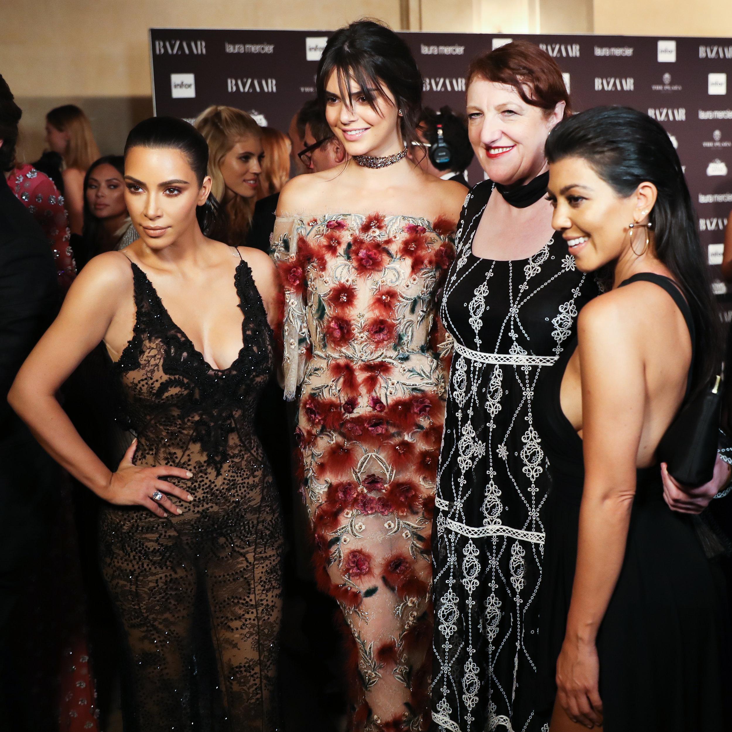 Editor-in-Chief Glenda Bailey, Kim Kardashian West, Kendall Jenner & Kourtney Kardashian attend Harper's BAZAAR's celebration of 'ICONS by Carine Roitfeld' presented by Infor, Laura Mercie and Stella Artois_BFA.jpg
