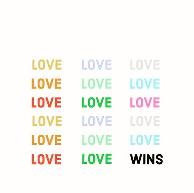 Love wins. That's that. If we lead with love, everything (positive) follows. Happy Pride to all and wishing you nothing but love your neighbor vibes today and always. 🌈 : : : : : : : : #happypride #lovewins #pridemonth #wevecomealongway #nogoingback