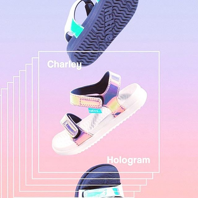 The Hologram Charley. Water friendly sandal with Velcro straps is now sold out in most places so if your local retailer has it, buy it as we are officially sold out. A perfect summer sandal that can be easily washed and passed on when your little one outgrows it. Buy well. Pass it on. : : : : : : #nativeshoes #livelightly #waterfriendlyshoes #watershoes #animalfreeshoes #tinyactivism #summershoes #vacationshoes #brandsthatcare